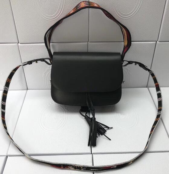 Элитная кожа вышивки плечевой ремень Сумка кисточкой сумки лоскут сумки конструктора сумка цепи сумки Crossbody сумки кошелек