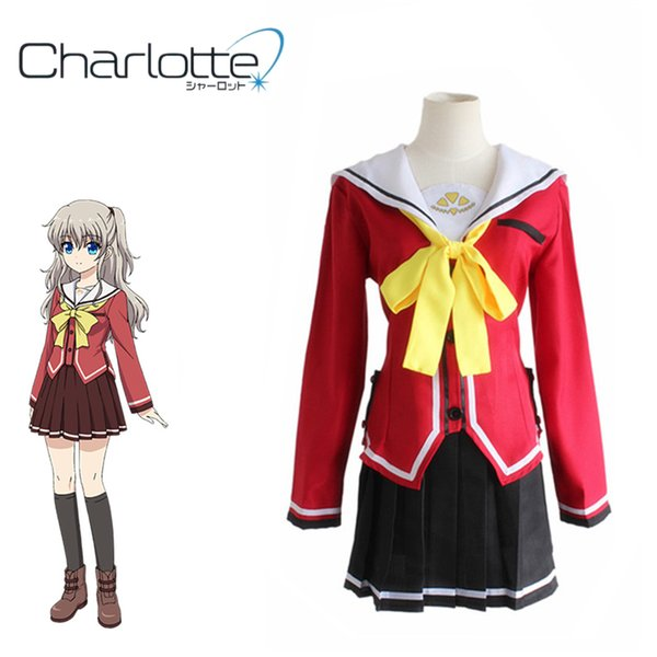 for women Tomori Nao Cosplay Charlotte Japanese Anime Cosplay Costume For Women Adults Fancy School Uniforms Suits