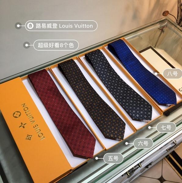 Lou 2019 new men's tie fashion elegant tie top jacquard silk hand-made best quality tie