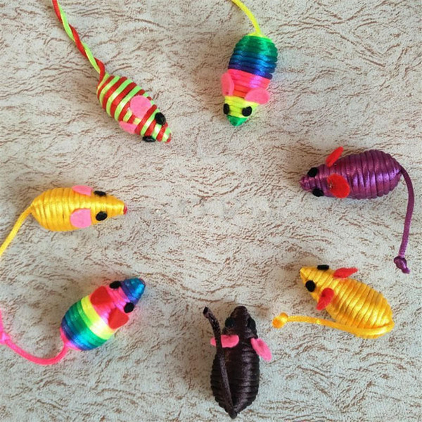 Squeak Noise Sound Cat Toy Stylish Cute Little Mouse Rat Playing Toys Pet Kitten Supplies Toys False Mice