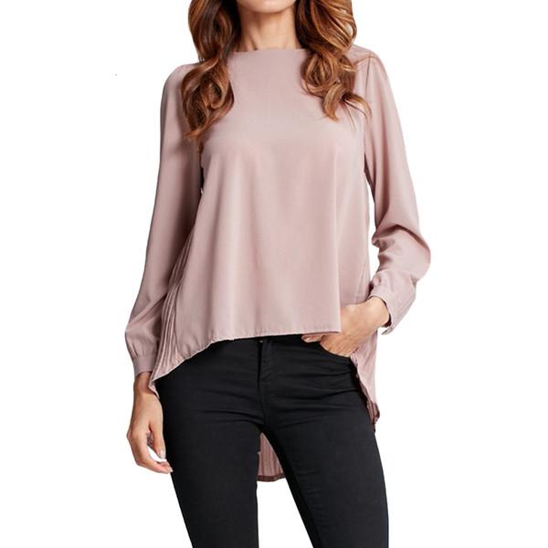 5Xl donne chiffon asimmetrico camicetta pieghettata Torna a maniche lunghe 4XL camicia allentata casuale più la camicia Size Top oversize 2019