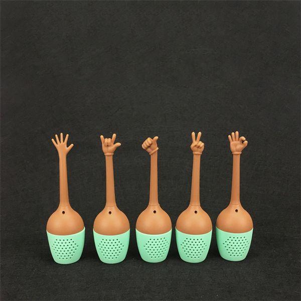 Creativo hecho a mano fabricante de té de gel de sílice filtro de té filtro conveniente fabricante de té hogar decoración de escritorio T3I5197
