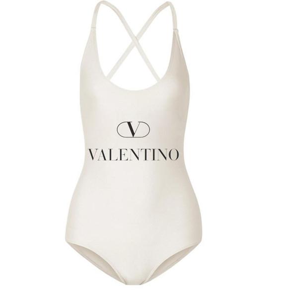 Costume da bagno con stampa a lettera Bikini Set Lady Costume da bagno per costumi da bagno ad asciugatura rapida 2 pezzi / set