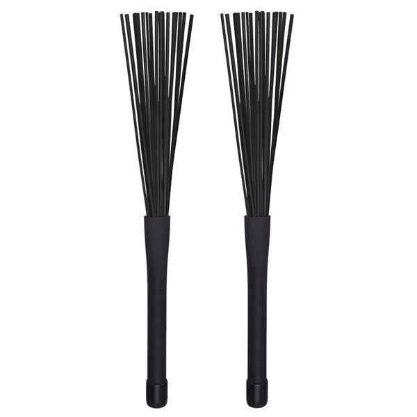 top popular 1 Pair Jazz Drum Brushes Retractable Drum Sticks 32 cm black 2021