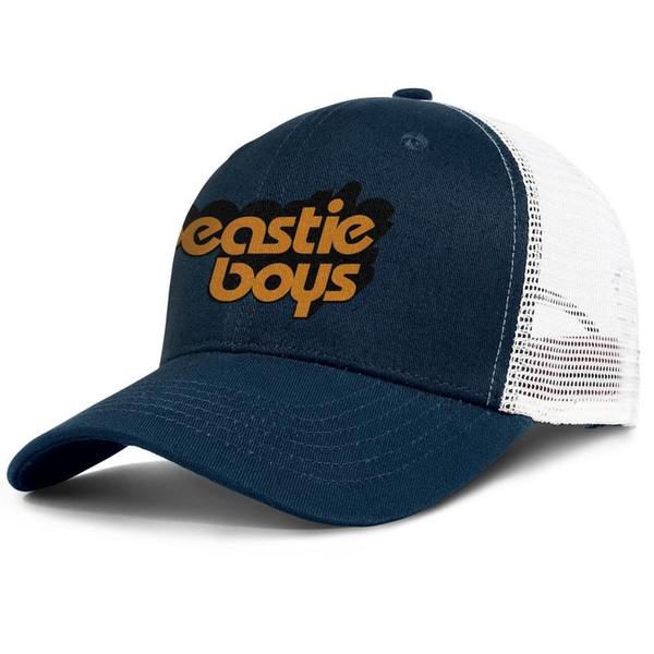 Le logo Beastie Garçons orange dark_blue hommes et femmes Trucker conception balle chapeaux vintage équipé