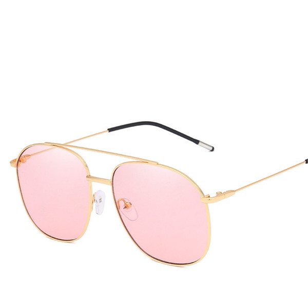 Moda Metal Frame Óculos De Sol Para Homens Marca Designer Anti-UV Óculos De Sol Das Mulheres Óculos Vintage Eyewear Motorista Gafas De Sol Mujer