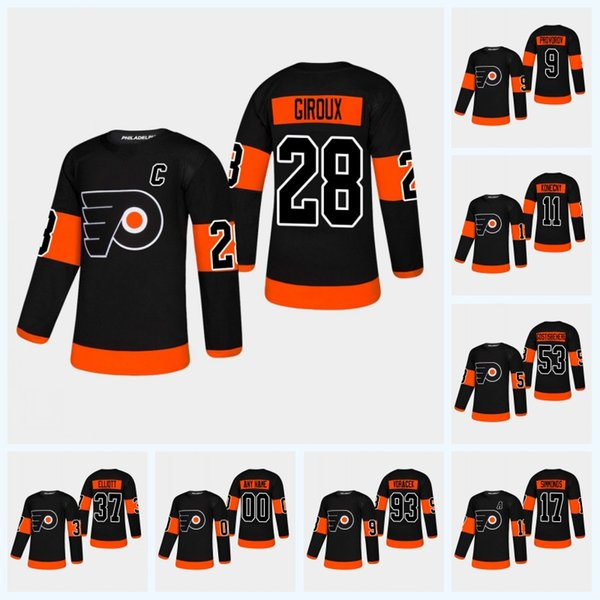 premium selection 989cd 4022a 2018 Youth Claude Giroux Philadelphia Flyers Third Jersey Travis Konecny  Shayne Gostisbehere Ivan Provorov Jakub Voracek Nolan Patrick Jersey From  ...