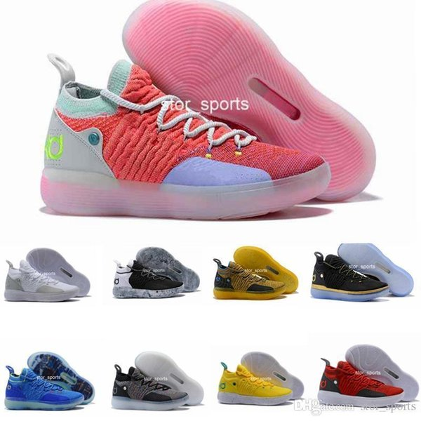 KD New Arrival 11 Mens Basketball Shoes, Zoom EP React EYBL Paranoid Multicolor Athletic Sport Sneakers Eur 40-46