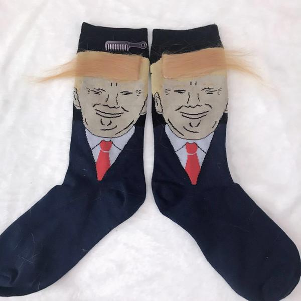 Creativo Trump calcetines American Trump pelo calcetines amarillo peluca calcetín accesorios de moda envío rápido de DHL libre
