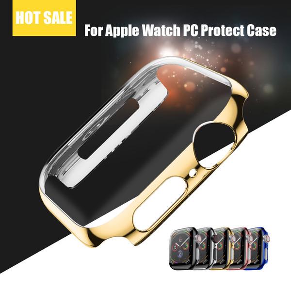 Protecteur d'écran dur pour Apple Watch Case Series 4/3/2/1 38/40/42 / 44mm en plastique Dur PC pour Apple Watch Case Series 4/3/2/1
