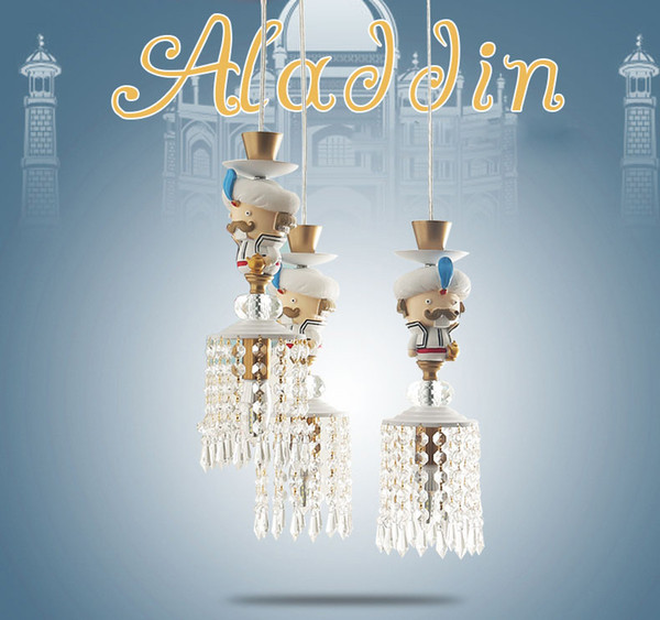 Großhandel 2019 Neue Aladdin Kinder Kristall Lampe Kinderzimmer Lampe Junge  Mädchen Schlafzimmer Lampe Kronleuchter Modell Zimmer Amerikanische Lampen  ...