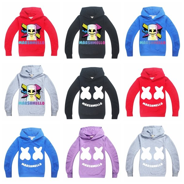 top popular 9 design Teenagers Boys cotton hoodies good quality printing Marshmello Dj Music sweatshirts clothes 6-14 years children hooded jumpers 2019