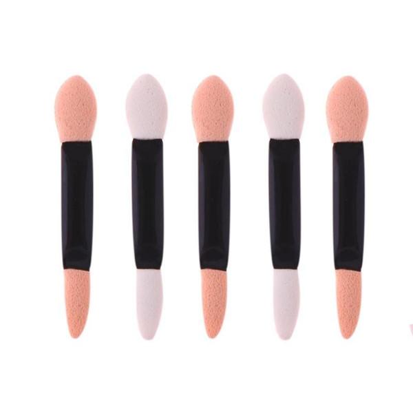 100 Pcs Aplicador Double-Ended Sombra Vara Mulheres Maquiagem Delineador Sponge Lip Brushes Set Descartável Sombra de Olho Esponja Kits