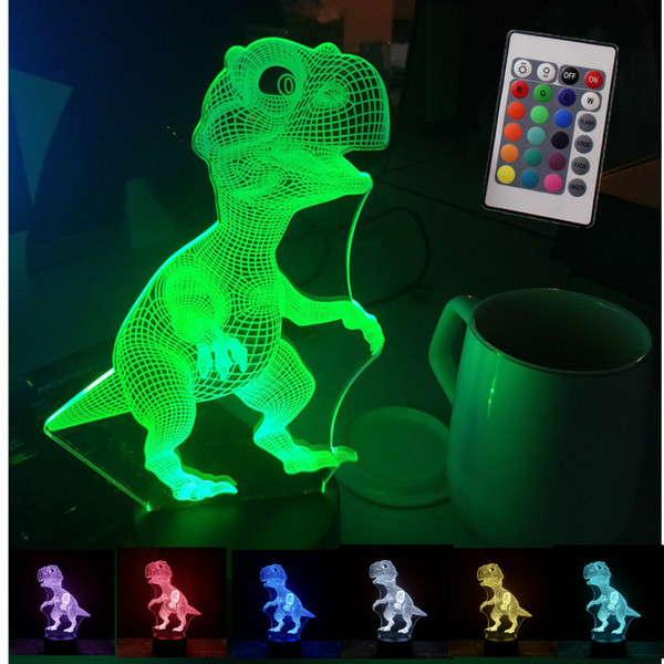 RC Remote Control Toys Dinosaur Toys Glow In The Dark Toys For Boy Kid Gift For Baby Sleeping Lamp Valentine Day Gift