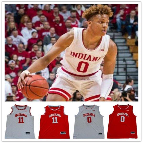 INDIANA Universität NCAA genäht Romeo Langford 0 11 Isaiah Thomas genäht Stickerei Swingman Trikots Jersey SHIRTS Billiger Sport Basketball