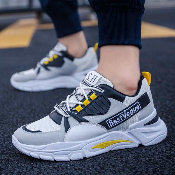 17colors 2020 Herbst neue Herren-Freizeitschuhe rot ins Papi Schuhe Trend Reise Clunky sneaker Junge Student Schuhe Netz