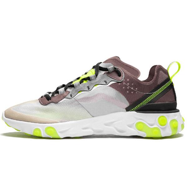 UNDERCOVER X React55 Üçlü Siyah Moda Erkek Ayakkabı Bayan Tasarımcı Ayakkabı Erkekler Eğitmenler Yelken Işık Kemik Sneakers