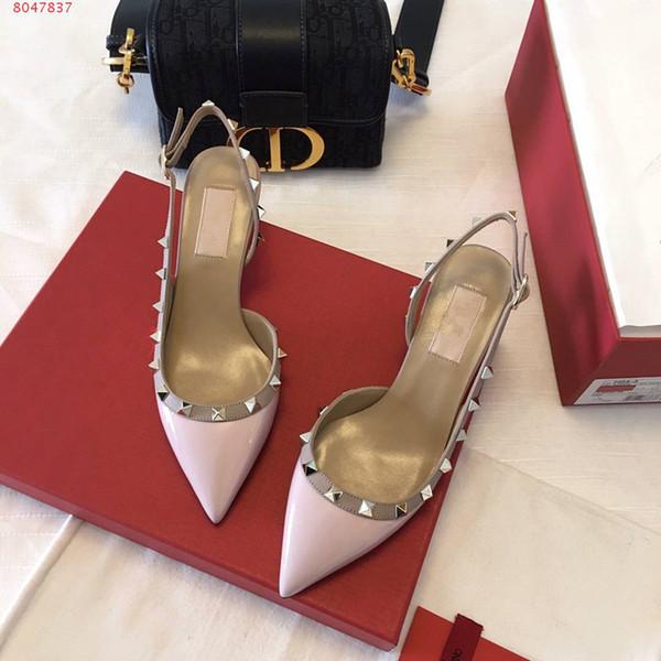 zapatos de vestir al por mayor de la boda las mujeres de lujo de las mujeres de la marca famosa proveedor de zapatos de alta calidad con clavos remaches zapatos del diseñador partido de Single Girl