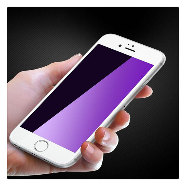 Full Coverage 3D Blue Ray Tempered Glass Film Screen Protector for iphone 6 6s 7 Plus Hot Sale
