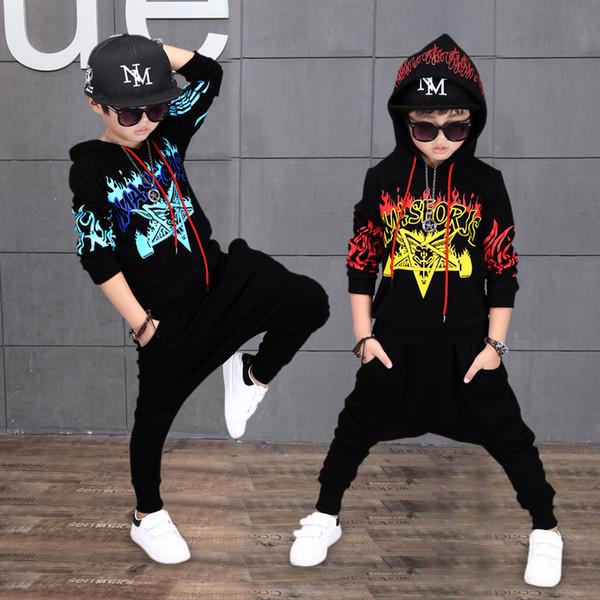 Costumi per bambini diurni ragazzi hip-hop abbigliamento hip-hop per spettacoli abiti per ragazzi abiti autunnali e invernali abiti da competizione per la danza