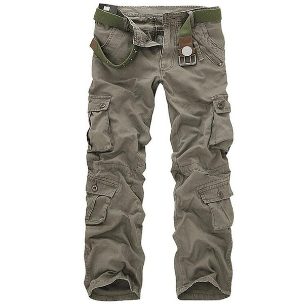 Men Tactical Military Pants Male Casual Multi-pockets Overalls Loose Style Trousers Mens Fashion Cargo Outwear Camouflage Pants
