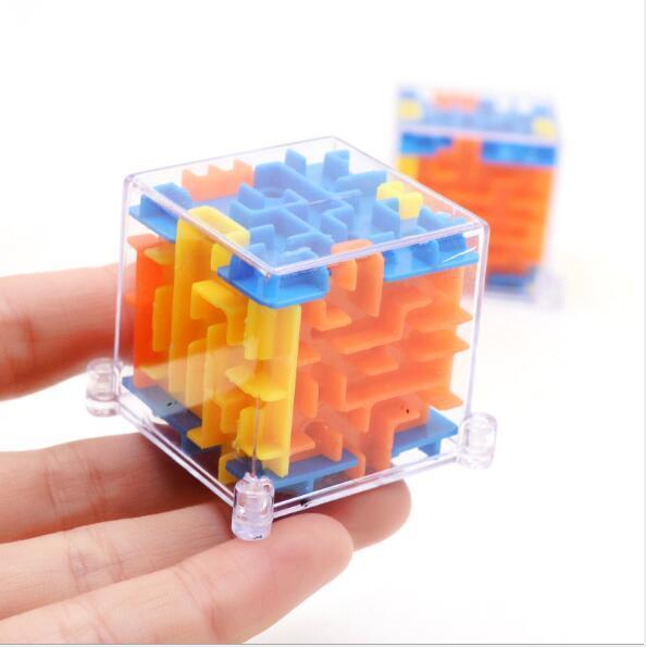 Cube de labyrinthe 3D Boule de labyrinthe stéréo Rotation Cube de Rubik's Intelligence Jouets pour enfants Jouets bébé Intelligence Jouets 3D en marche perle labyrinthe stéréo