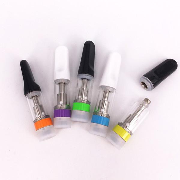 Colorful Ring Vape Pen Ceramic Cartridge TH205 Atomizer Vaporizer Glass Tank 510 Thread Essential Oil Vape Carts Thick Oil Atomizer