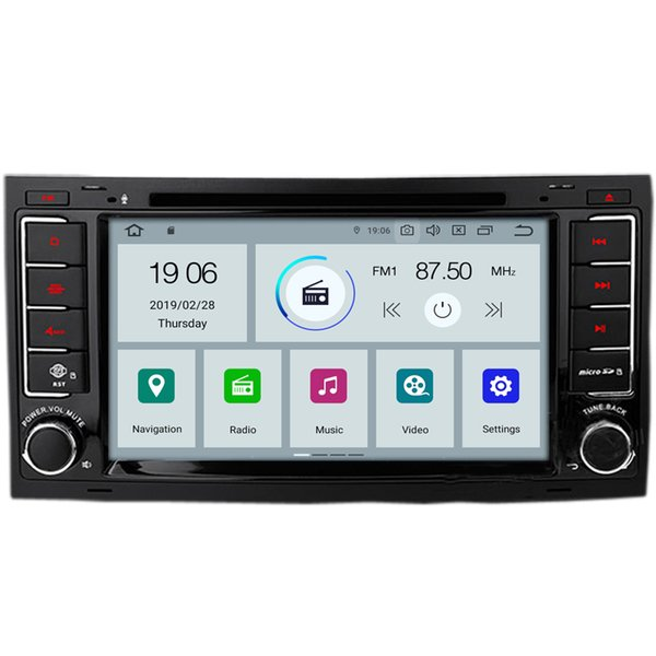 "COIKA 7"" Quad Core Android 9.0 System Car DVD Head Unit For Volkswagen Touareg 2004-2011 With GPS Navi BT OBD WIFI 4G Google 2+16G"