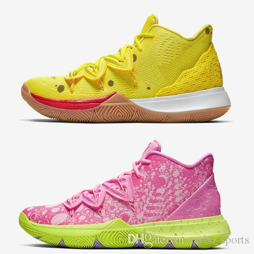 Sponge Kyrie 5 Patrick Squidward Low 2 Mr.Krabs Sandy Cheeks Men Womens Basketball Shoes 5s zoom turbe Trainers Sports Sneakers size5.5-12