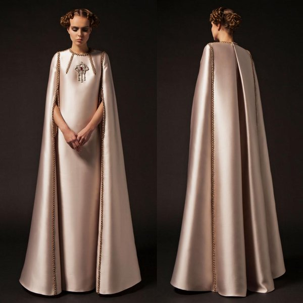 Krikor Jabotian 2019 Prom Dresses With Long Sleeve Beads Paerls Satin Plus  Size Vintage Evening Gowns Rose Gold Caftan Abendkleider Prom Dresses 2015  ...