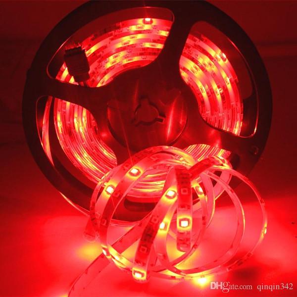 SMD 3528 5M 10m 15M 300led RGB ha condotto stringhe luce di striscia impermeabile illuminazione esterna multicolore 24keys nastro nastro DC12V set adattatore led