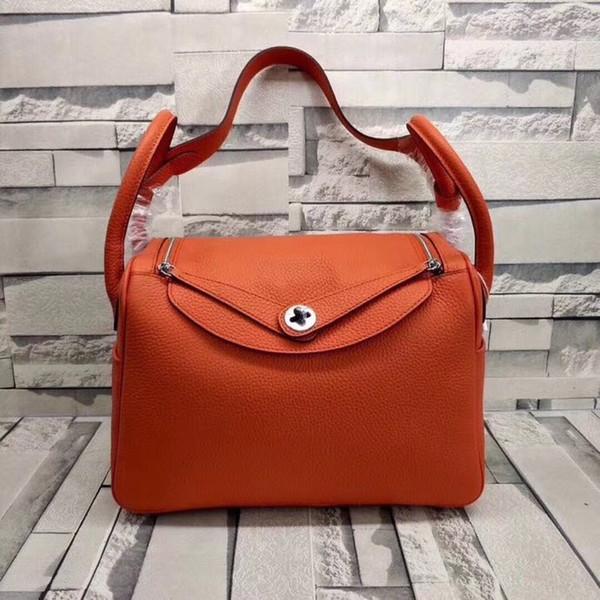 2019 bolsa de couro quente 26 CM original de alta qualidade da marca bolsa de grife senhora bolsa de ombro bolsa de compras com caixa
