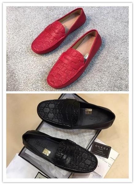 Melhor Qualidade 2019 High-end de alto luxo Outdoor Homens Marca Top negócios sapatos de couro genuíno Men Shoes Tamanho 38-45