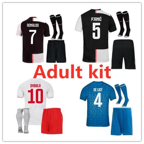 19 20 NEW Men kit Soccer Jerseys 19 20 adult Kit Maillot de foot custom name and number men football shirt and short Sales size S-XXL