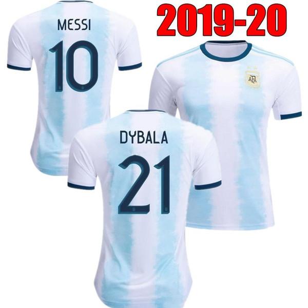 2019 Arjantin ev uzakta Jersey MESSI DYBALA DI MARIA Aguero HIGUAIN 19 20 Arjantin erkek bayan çocuk kiti copa amerika futbol Futbol forması