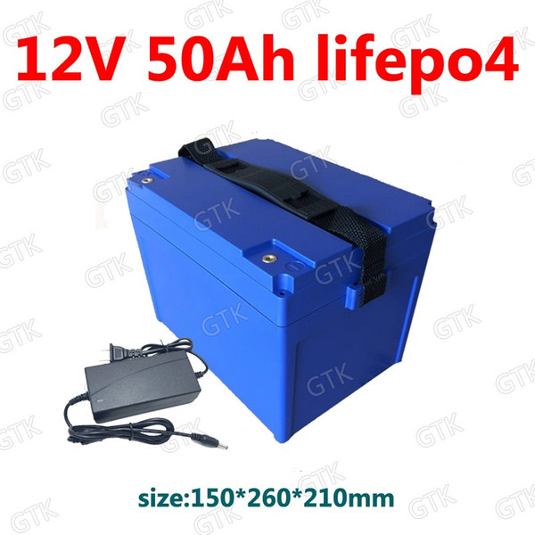 GTK Lifepo4 12v 50ah Akku BMS 4S 12.8V für Notlicht Boot Maschine Beleuchtung Xenon Wechselrichter Solar + 5A Ladegerät