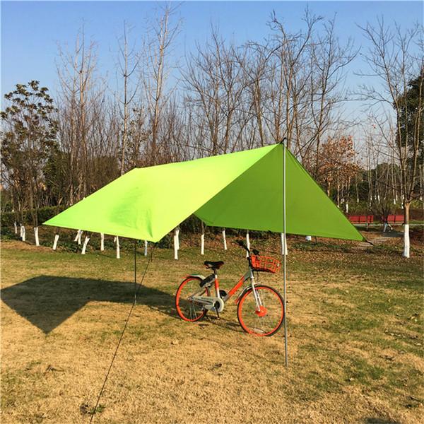 Tente extérieure Portable Camping Léger Voyager Anti-UV Touristique Tente D'été Tente Bâche Étanche Abri Tapis Hamac Couverture 0.15