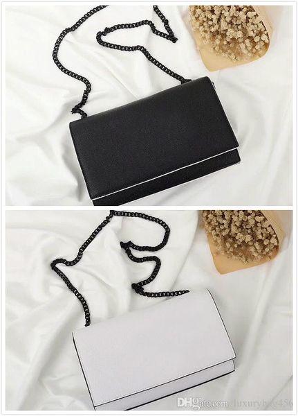 2019 Fashion Black and White Shoulder Bag Classic Texture Perfect Hardware Chain bag ladies messenger bag retro handbag