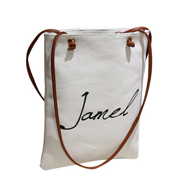 Cheap OCARDIAN Shoulder bag tote bag Handbags women's Women Fasion Female Simple Letter Canvas Bags Handbag Drop shipping CSV A1204#30