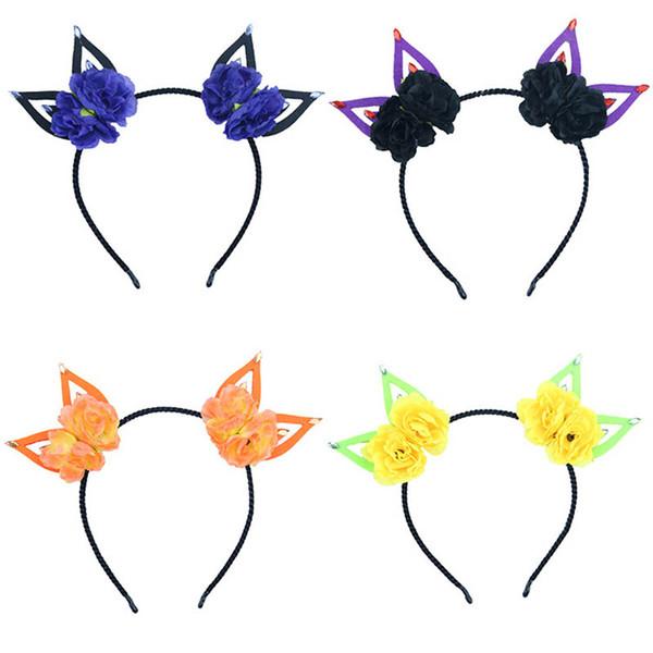 Nuovi Halloween bambini fascia per capelli designer di fiori fascia per ragazze designer fasce per capelli accessori per capelli per bambini Bastoncini per capelli A7716