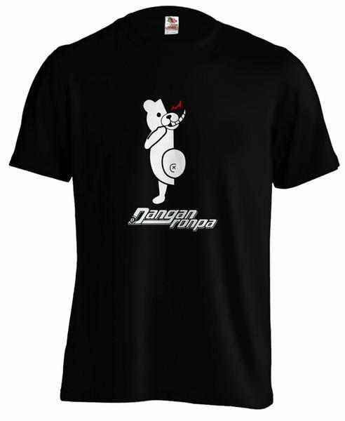 Улице dangan Ronpa DANGANRONPA MONOKUMA медведь MONOKUMA наша же манга аниме t рубашка мужчин женщин унисекс мода футболка Бесплатная доставка смешные прохладный