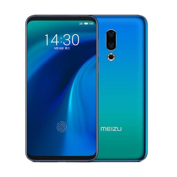 Orijinal Meizu 16th Artı 4G LTE Cep Telefonu 6 GB RAM 128 GB ROM Snapdragon 845 Sekiz Çekirdekli Android 6.5 inç 20MP Parmak Izi KIMLIĞI Yüz Cep Telefonu