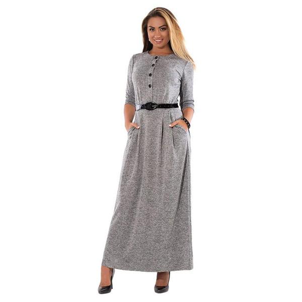 5xl Robe Autumn Winter Dress Big Size Elegant Long Sleeve Maxi Dress Women  Office Work Dresses Plus Size Women Clothing Trend Flower Dress For Women  ...