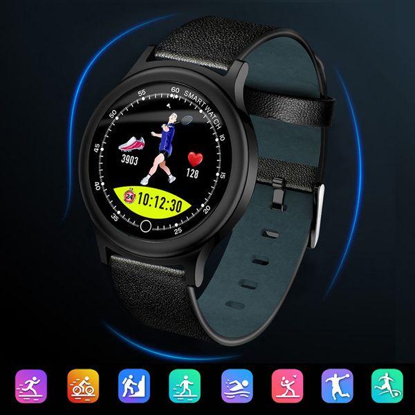 OGEDA 2019 İzle Erkekler Akıllı Aydınlatmalı Fitness Spor IP68 Android IOS Için Su Geçirmez Bluetooth Kalp Hızı