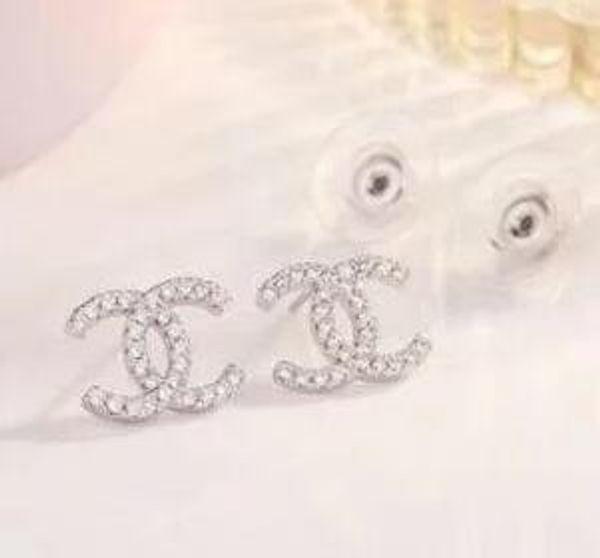 Stud earrings for women 2019 new Luxury boho white Zircon Dangle earrings gold silver plated Vintage geometric Jewelry wholesale 5623