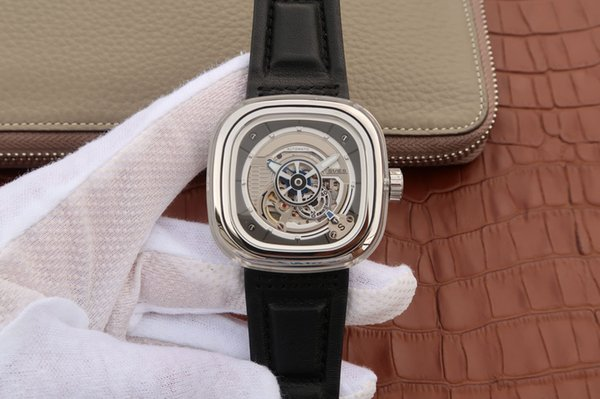 S1/01, leather strap, men's watch, automatic mechanical movement, close base, 47x47.6mm, 40 hours power storage