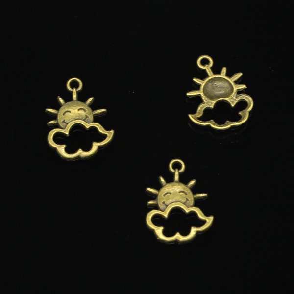 142pcs Antique Bronze Plated sun cloud Charms Pendants fit Making Bracelet Necklace Jewelry Findings Jewelry Diy Craft 20*17mm