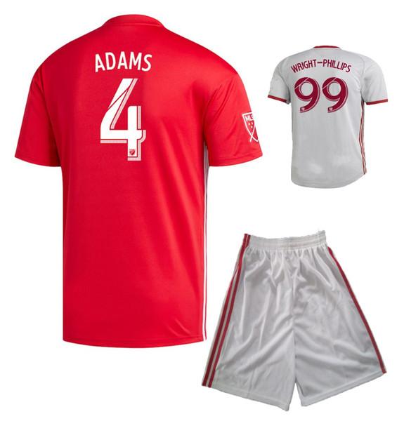 19 20 Pantaloncini New York Red Soccer Jersey 2019 2020 WRIGHT-PHILLIPS ADAMS HENRY Kit calcio Adulti Sport Set Mens Thai Qualità Tute da calcio