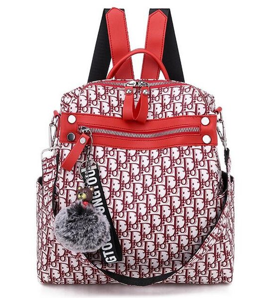 Best Designer Men Women's &#68iorLIED Backpack Fashion Student School Bags Lady pu Leather Backpacks Bag Laptop Cases
