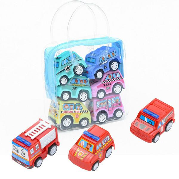 best selling 6pcs Set Kids Children Nursery Pull Back Model Car Vehicle Educational Toy Gift Child Kids Education Learning Vehicles Diecasts